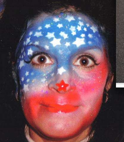 patriotic face paint