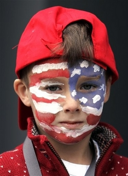 face painting american flag