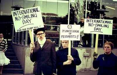 demonstration picture pessimists no smiling day