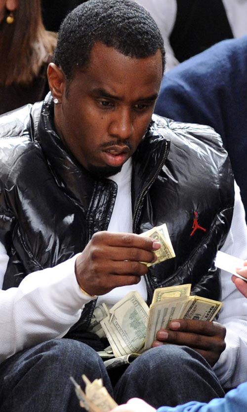 sean diddy combs funny picture 1$ bill