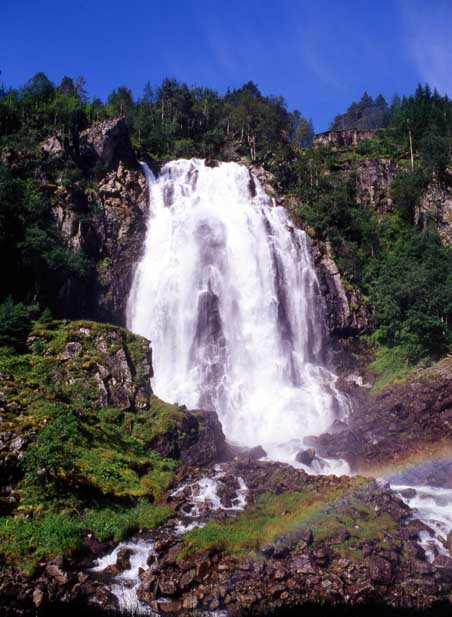 highest waterfalls Espeland Falls