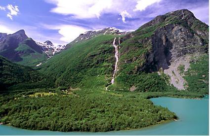 highest waterfalls Utigord Falls