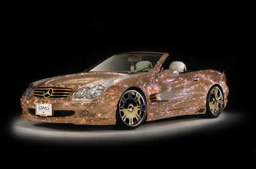 Mercedes Benz SL600 Swarovski Crystals exterior