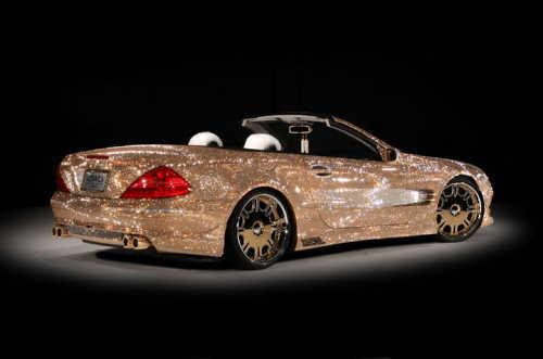 Mercedes Benz SL600Swarovski Crystals exterior