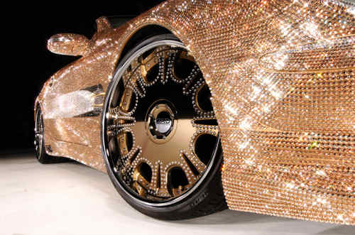 Mercedes Benz SL600Swarovski Crystals wheels