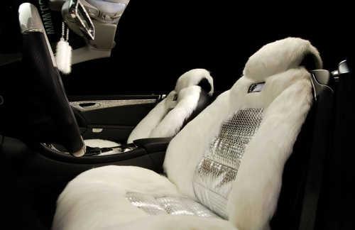 Mercedes Benz SL600Swarovski Crystals interior